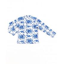 """Водолазка для девочек в голубых цветах """"гжель"""""""