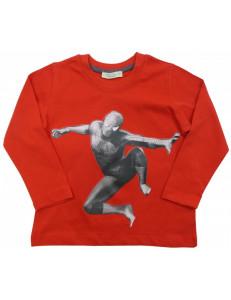 """Футболка красная на мальчика с длинным рукавом """"человек паук"""""""