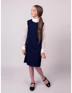 """Платье-сарафан синее приталенного кроя """"Эмилия"""""""