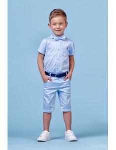 """Костюм для мальчиков голубого цвета из трех предметов """"Summer"""""""