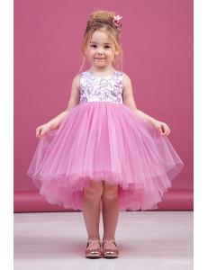 """Платье нарядное розовое для девочек с блестками """"Ева"""""""