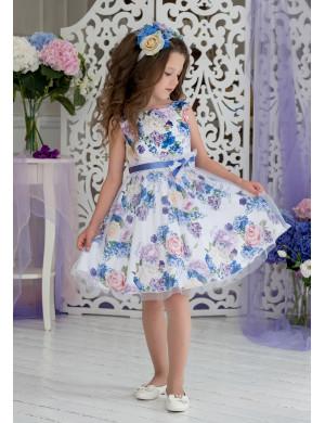 """Платье нарядное c цветочным принтом """"Фиби"""""""